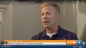 KARE11 TV Interview with Nate Boen Homes for Heroes Gives Back 50 Million to Community Heroes