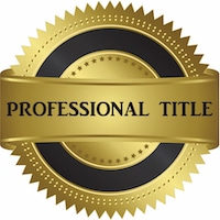 Professional Title Logo