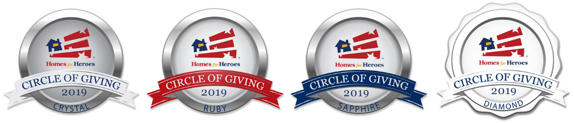 2019 Circle of Giving Awards Diamond Sapphire Ruby Crystal