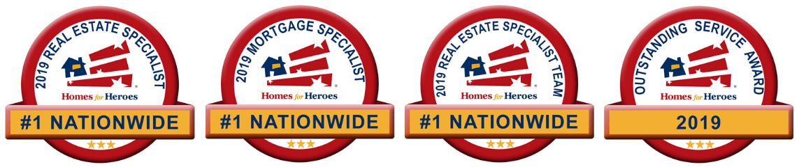 2019 Homes for Heroes Top Affiliate Outstanding Service Awards