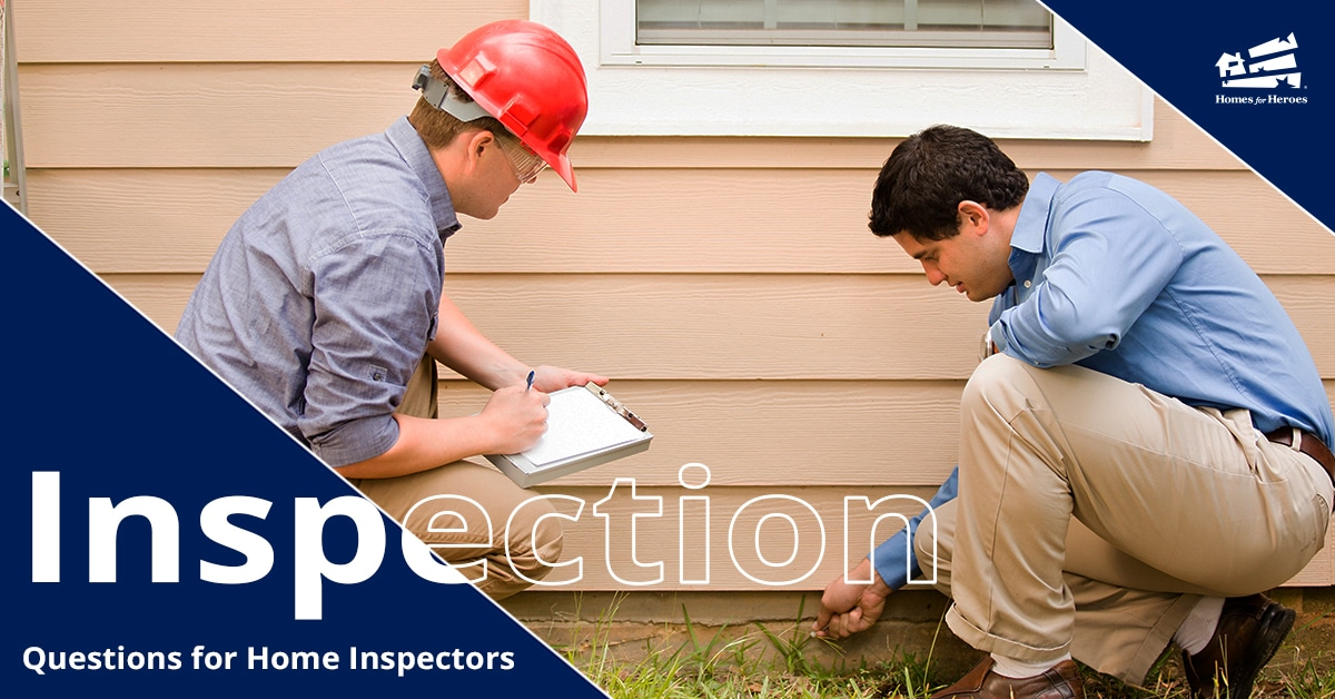 home buyer asking home inspector questions Homes for Heroes