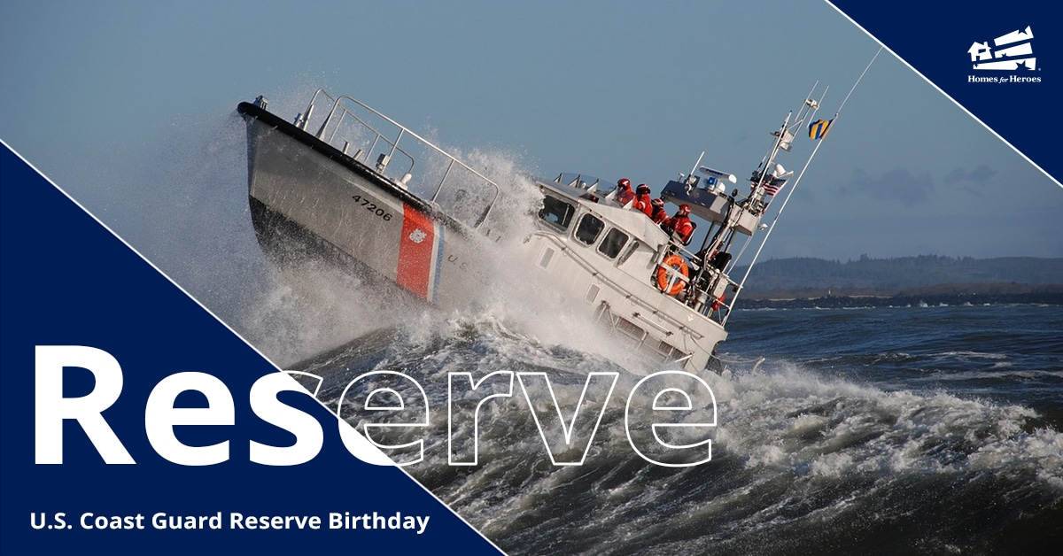 US Coast Guard Reserve Ship Driving Over Large Wave With Crew On Board