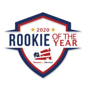 2020 Homes for Heroes Rookie of The Year badge