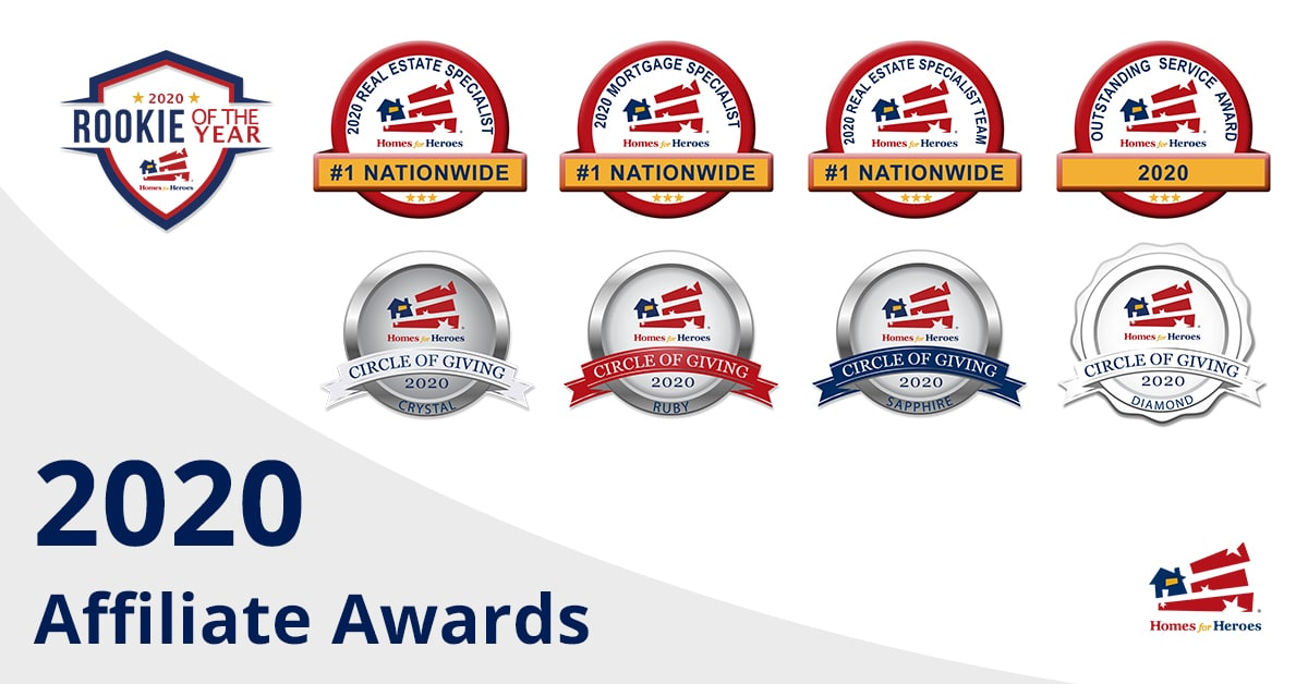 2020 Homes For Heroes Affiliate Awards Winners